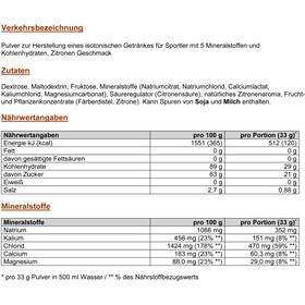 PowerBar Isoactive Isotonic Sports Drink Dose 600g Zitrone